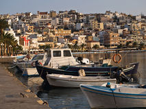 The embankment of sitia town view Royalty Free Stock Image