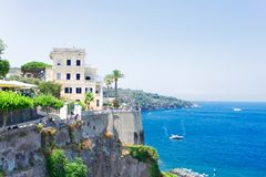 Sorrento, southern Italy. Embankment of Sorrento at summer day, southern Italy Stock Photo