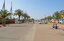 The embankment in Sousse, Tunisia Royalty Free Stock Photo