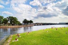 Embankment in St. Petersburg Stock Photo