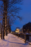 Embankment in St. Petersburg at night Stock Image