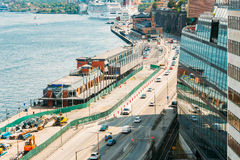 Embankment In Stockholm At Summer Day, Sweden Royalty Free Stock Images