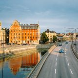Embankment In Stockholm At Summer Day, Sweden Stock Image