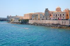 Embankment in Syracuse, Sicily Royalty Free Stock Photos