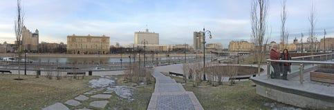 Embankment of Taras Shevchenko in Moscow, Russia Royalty Free Stock Photo