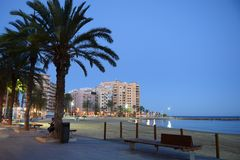 Embankment in Torrevieja Stock Photo