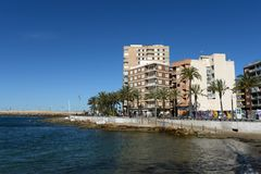 Embankment in Torrevieja Royalty Free Stock Image