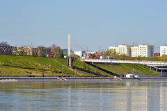 The embankment in Tyumen, Russia. Royalty Free Stock Images