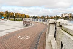 Embankment of the upper lake. Royalty Free Stock Photography