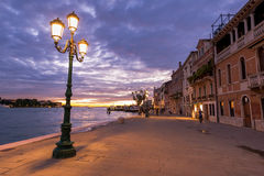 An embankment in Venice, Italy Royalty Free Stock Photo