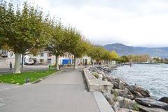 Embankment in Vevey, Switzerland Stock Photo