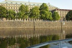 The Embankment of the Vltava River in Prague Stock Photos