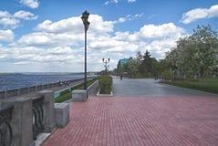 Embankment of the Volga River in Samara Royalty Free Stock Photo