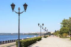 Embankment of the Volga in Samara Royalty Free Stock Photography