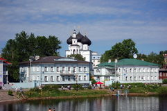 Embankment in Vologda, Russia Stock Photo