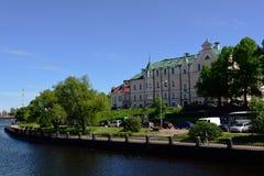 Embankment in Vyborg, Leningrad oblast, Russia Stock Photos
