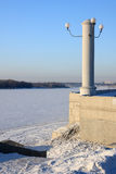Embankment in winter. Royalty Free Stock Photo