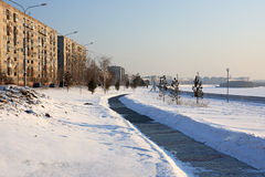 Embankment in winter. Stock Image