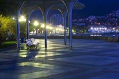 Embankment in Yalta, Crimea. Night City Lights. Embankment in Yalta, Crimea Royalty Free Stock Image