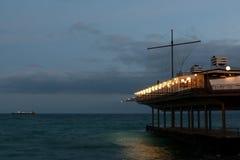 Embankment in Yalta, Crimea. Night City Lights. Embankment in Yalta, Crimea Stock Photo