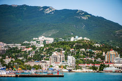 Embankment of Yalta, Russia, Crimea Royalty Free Stock Photos