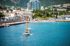 Embankment of Yalta, Russia, Crimea Stock Photo