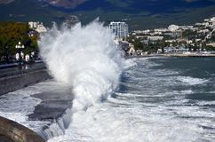 Storm in Yalta Royalty Free Stock Photos