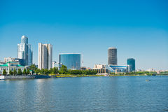 Embankment Yekaterinburg City. Royalty Free Stock Photography