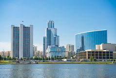 Embankment Yekaterinburg City. Royalty Free Stock Photos