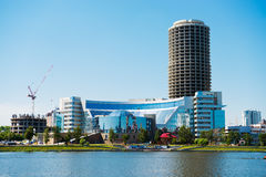 Embankment Yekaterinburg City on June 08, 2012 Royalty Free Stock Photo