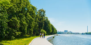 Embankment Yekaterinburg City on June 08, 2012 Stock Image