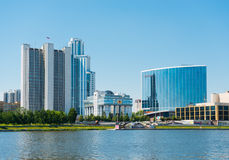 Embankment Yekaterinburg City on June 08, 2012 Royalty Free Stock Photos