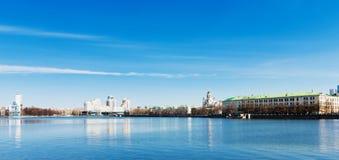 embankment Yekaterinburg City. Stock Images