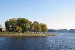 Embankment of Zayachy island, St.Petersburg, Russia Royalty Free Stock Images