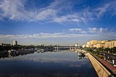 Embankments of the city of Moscow. Stock Photos
