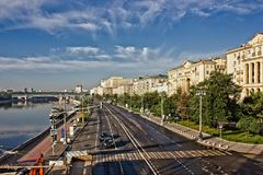 Embankments of the city of Moscow. Stock Photography
