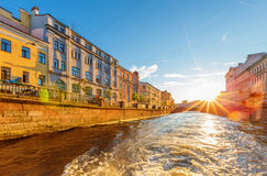 The embankments of Griboyedov Canal Stock Photos