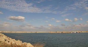 Embankments of Tomis Port in Constanta city, Romania Stock Photo
