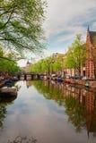Embanlment dell'anello del canale, Amsterdam Fotografia Stock