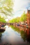 Embanlment dell'anello del canale, Amsterdam Fotografia Stock Libera da Diritti