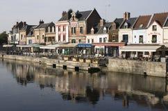 Embanquement in altem Amiens stockbilder