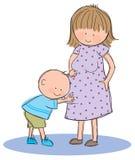 Embarazada ilustración del vector