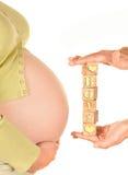 Embarazado de un bebé Imagen de archivo