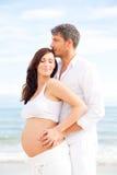 Embarazo de los pares Fotos de archivo