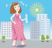 Embarazo del verano ilustración del vector