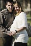 Embarazo feliz Imágenes de archivo libres de regalías