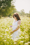 Embarazo feliz Fotos de archivo libres de regalías