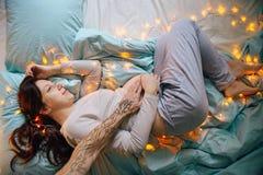 Embarazo hermoso y de la dulzura Foto de archivo