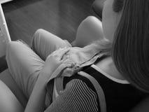 Embarazo oscilante foto de archivo libre de regalías
