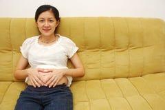 Embarazo temprano Imagen de archivo libre de regalías